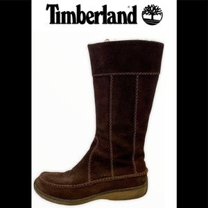 Timberland Brown Suede Side Zip Moc Boots 6.5